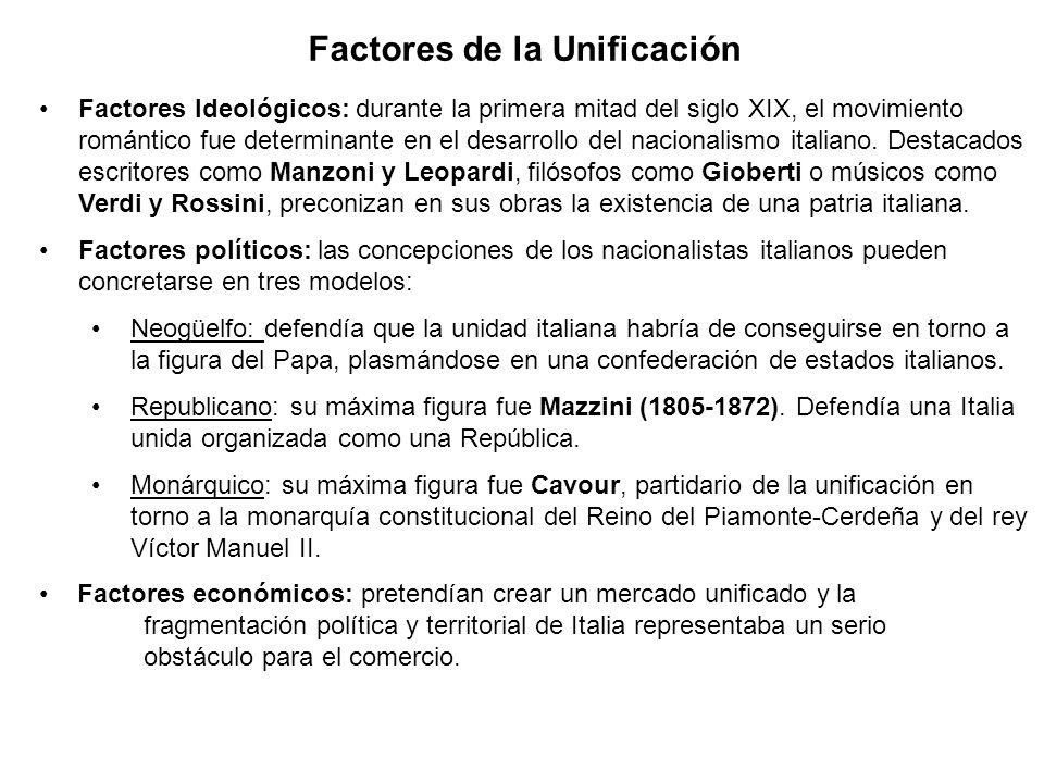 Factores de la Unificación