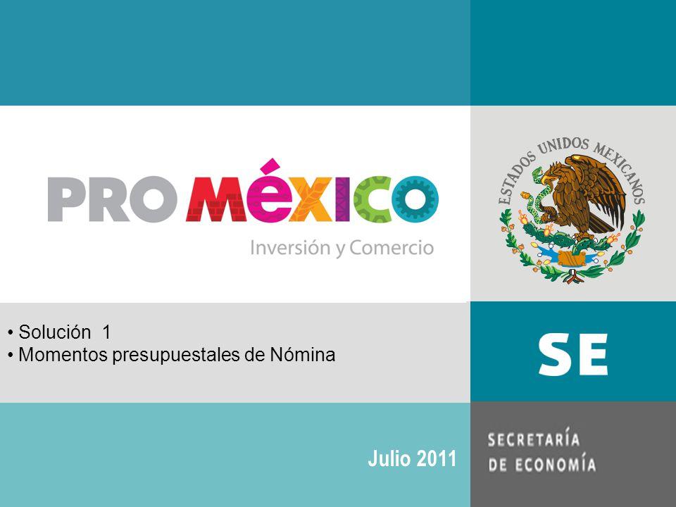 Solución 1 Momentos presupuestales de Nómina Julio 2011
