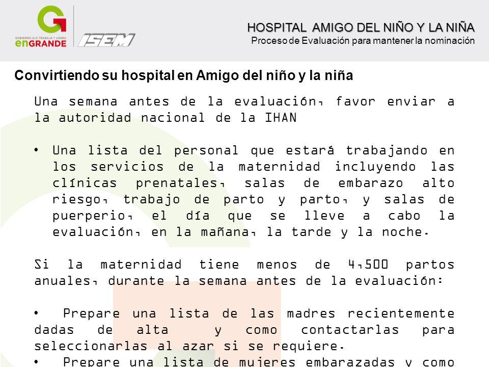 Convirtiendo su hospital en Amigo del niño y la niña