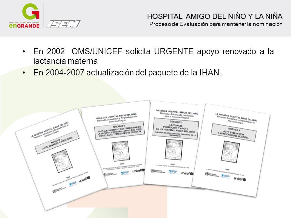 En 2004-2007 actualización del paquete de la IHAN.