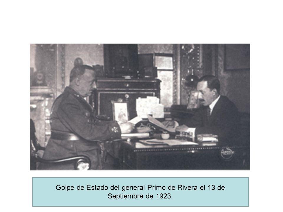 Golpe de Estado del general Primo de Rivera el 13 de