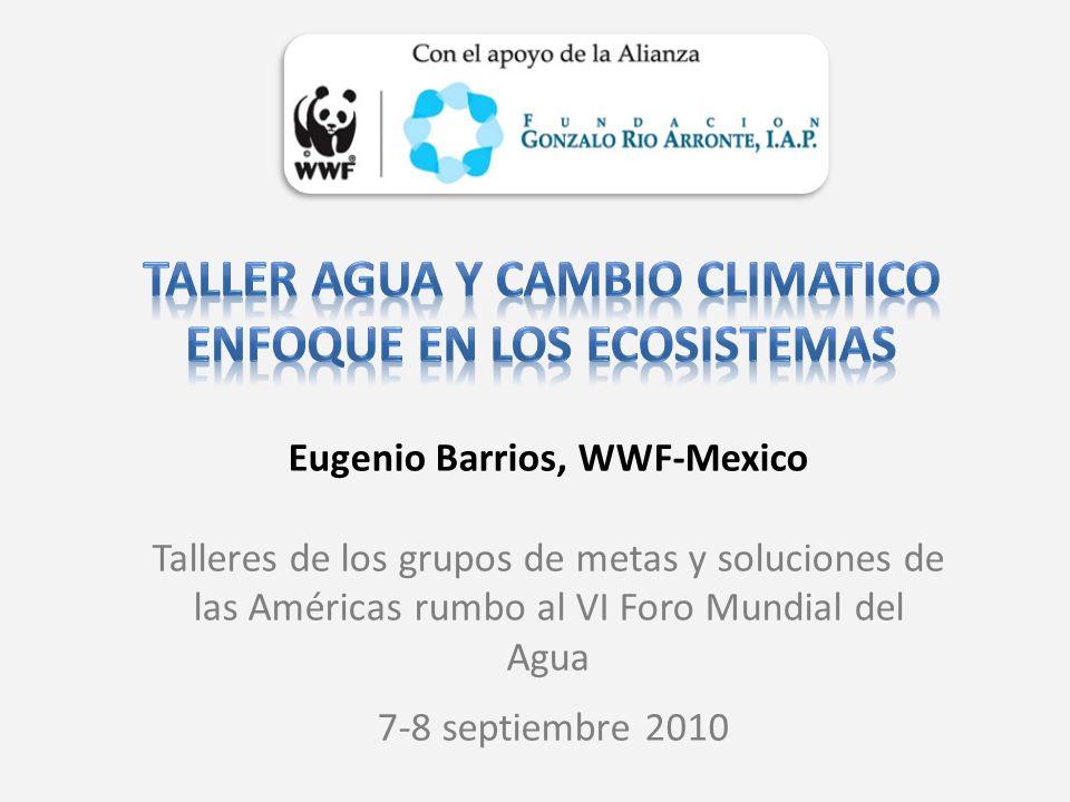 Taller agua y cambio climatico Enfoque en los ecosistemas