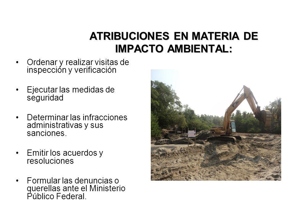 ATRIBUCIONES EN MATERIA DE IMPACTO AMBIENTAL: