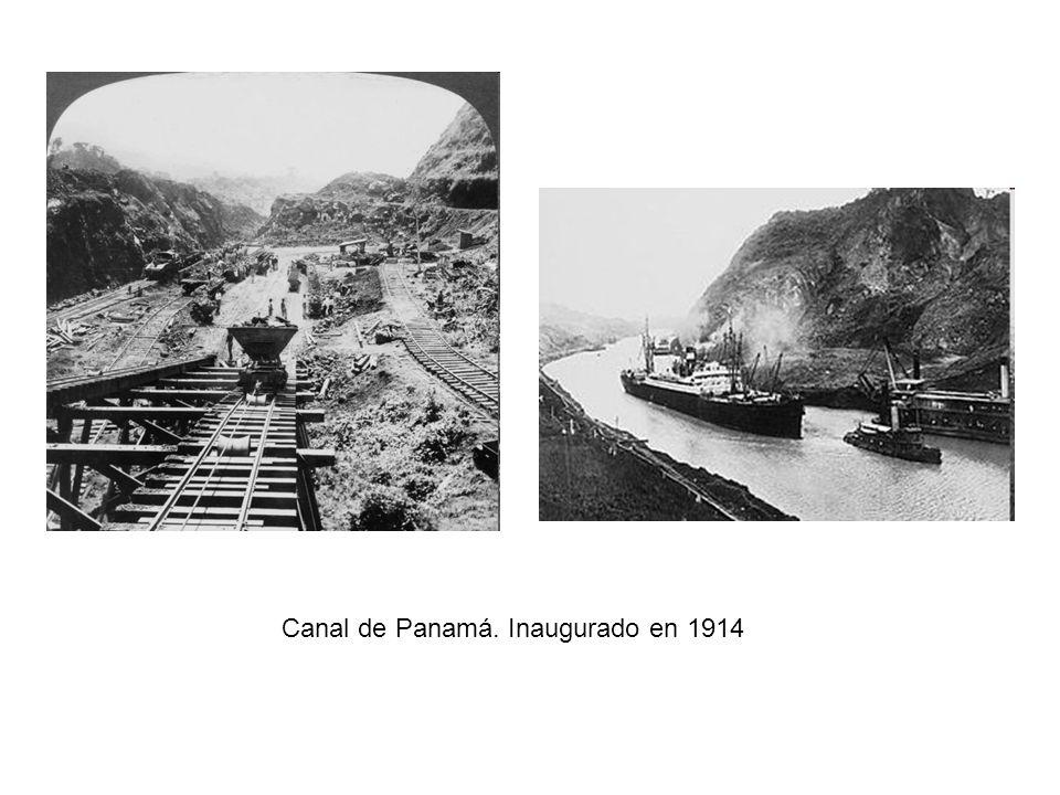 Canal de Panamá. Inaugurado en 1914