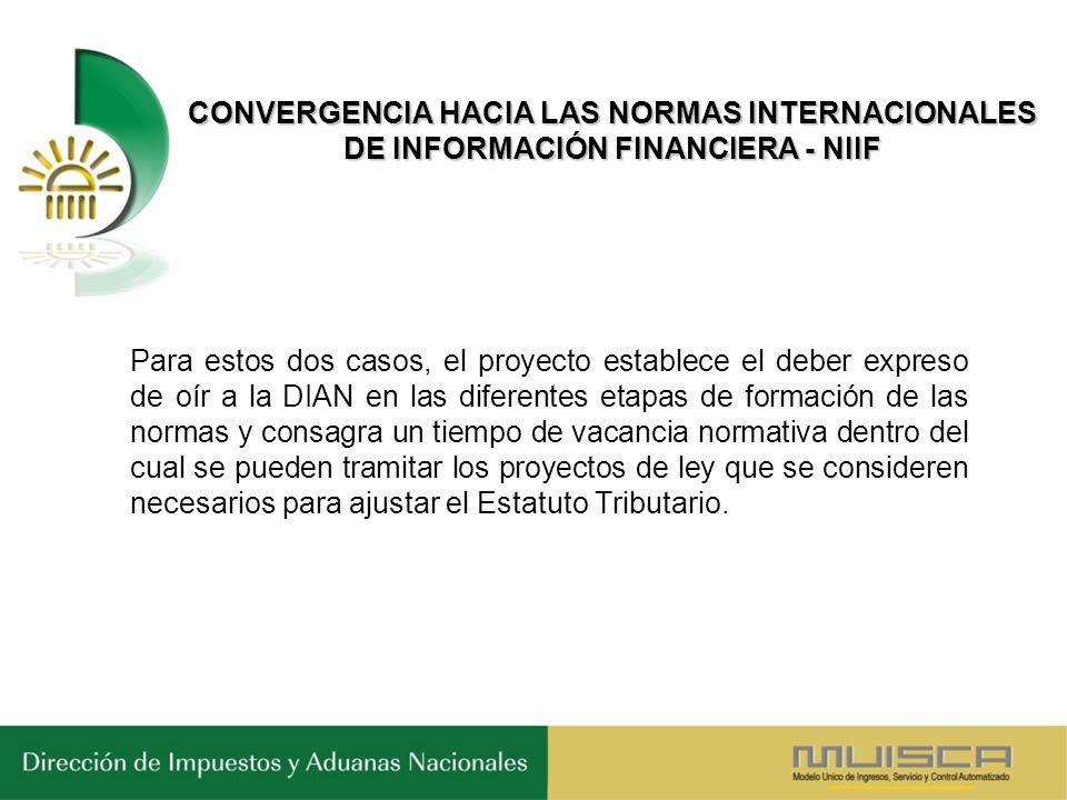 CONVERGENCIA HACIA LAS NORMAS INTERNACIONALES DE INFORMACIÓN FINANCIERA - NIIF
