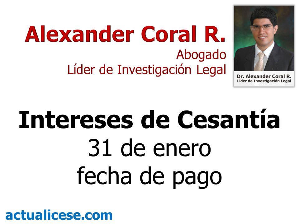 Intereses de Cesantía 31 de enero fecha de pago