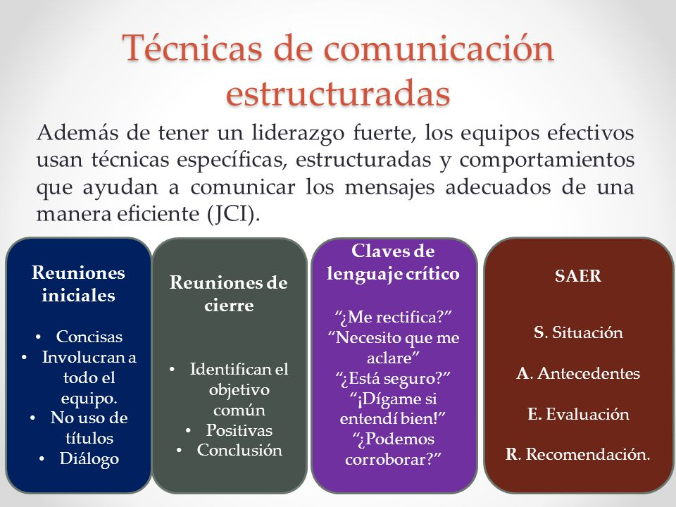 Técnicas de comunicación estructuradas