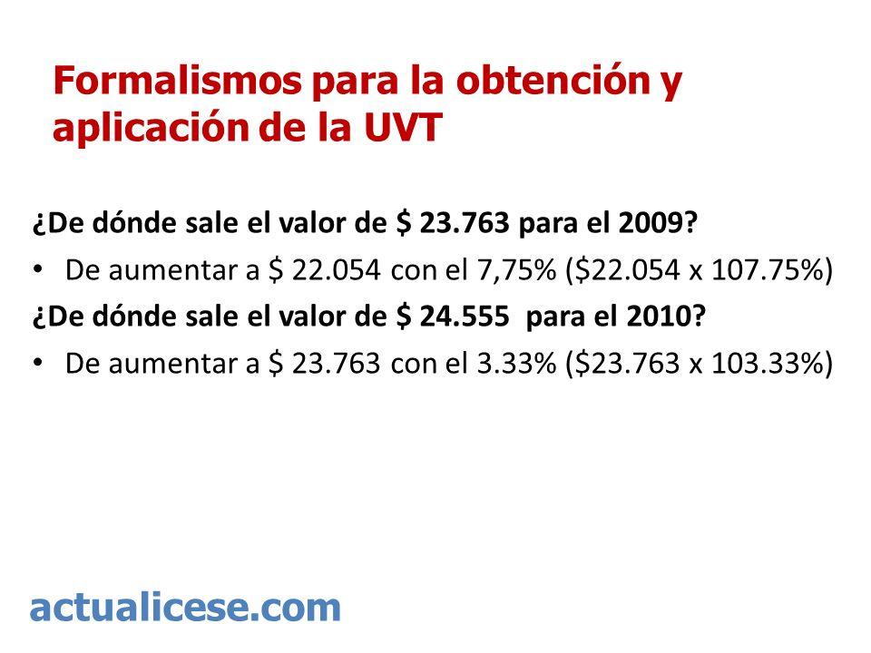 Formalismos para la obtención y aplicación de la UVT
