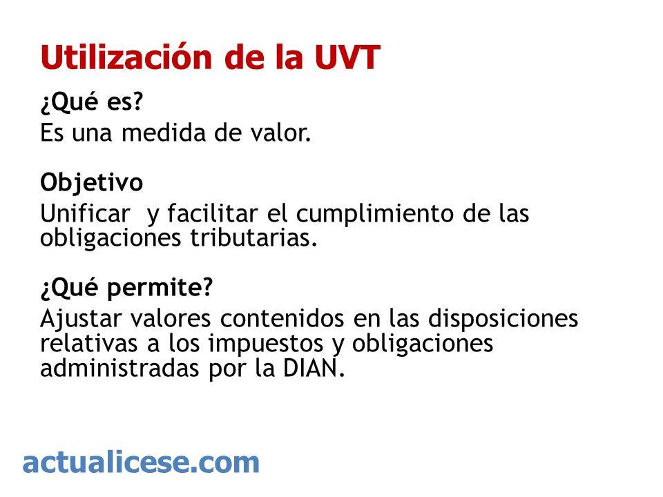 Utilización de la UVT