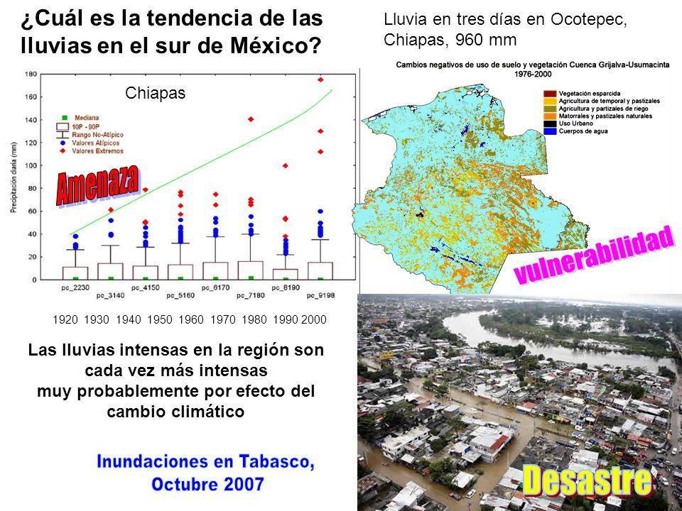 vulnerabilidad Desastre Inundaciones en Tabasco, Octubre 2007