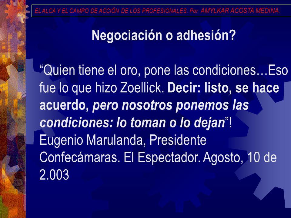 Negociación o adhesión