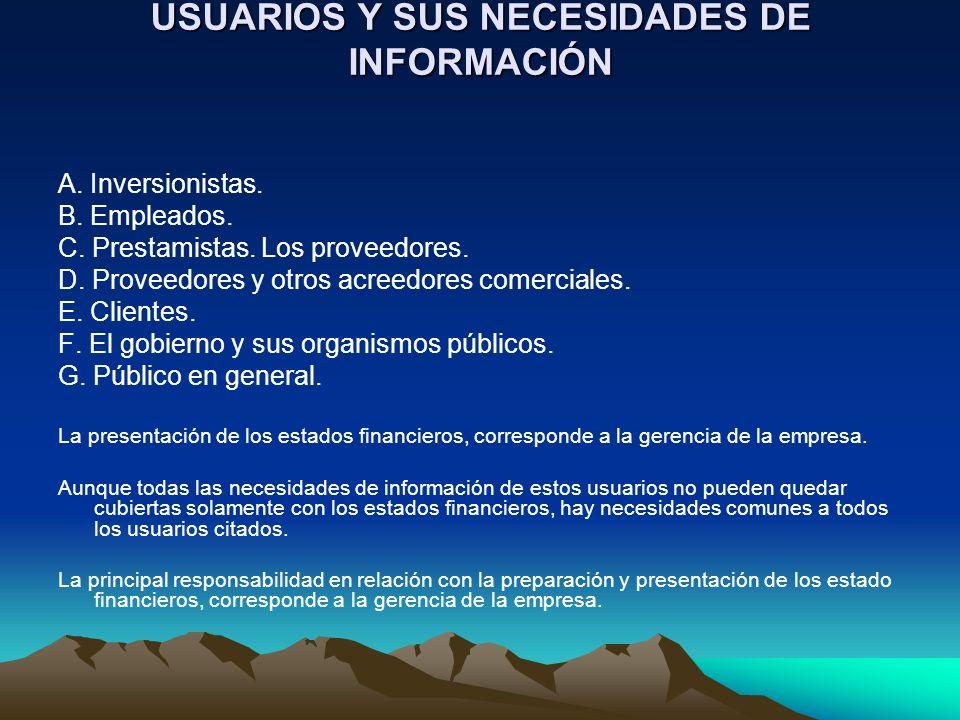 USUARIOS Y SUS NECESIDADES DE INFORMACIÓN