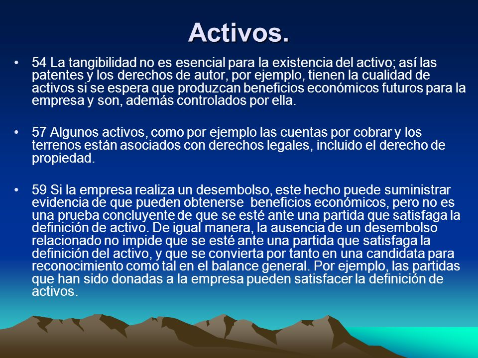 Activos.
