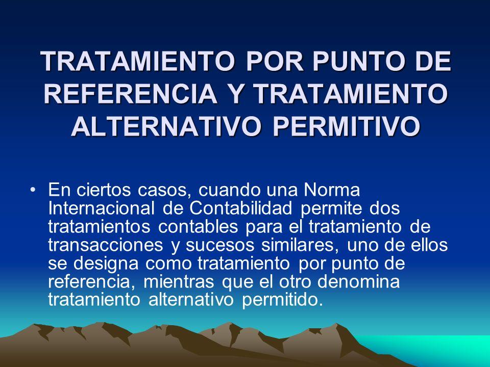 TRATAMIENTO POR PUNTO DE REFERENCIA Y TRATAMIENTO ALTERNATIVO PERMITIVO