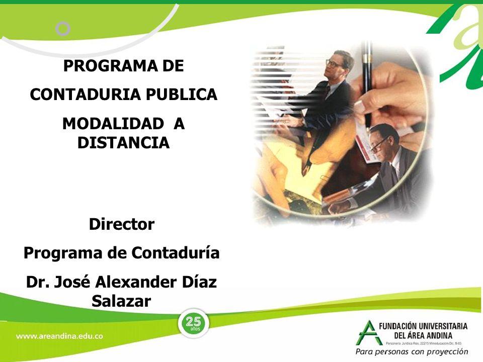 Programa de Contaduría Dr. José Alexander Díaz Salazar