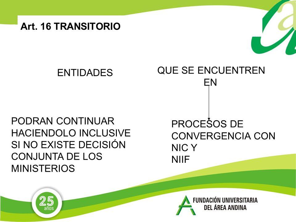 Art. 16 TRANSITORIOQUE SE ENCUENTREN. EN. ENTIDADES. PODRAN CONTINUAR. HACIENDOLO INCLUSIVE. SI NO EXISTE DECISIÓN CONJUNTA DE LOS.