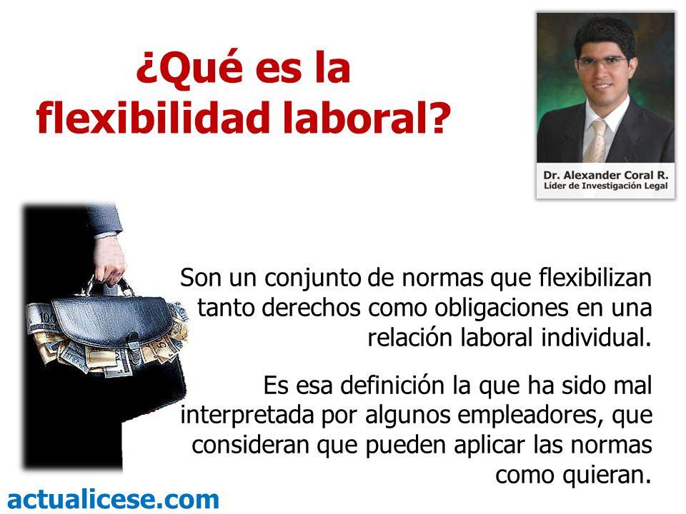 ¿Qué es la flexibilidad laboral