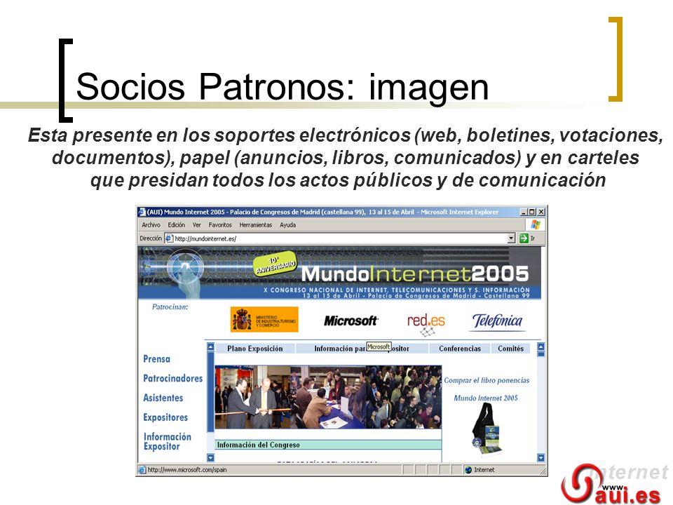Socios Patronos: imagen