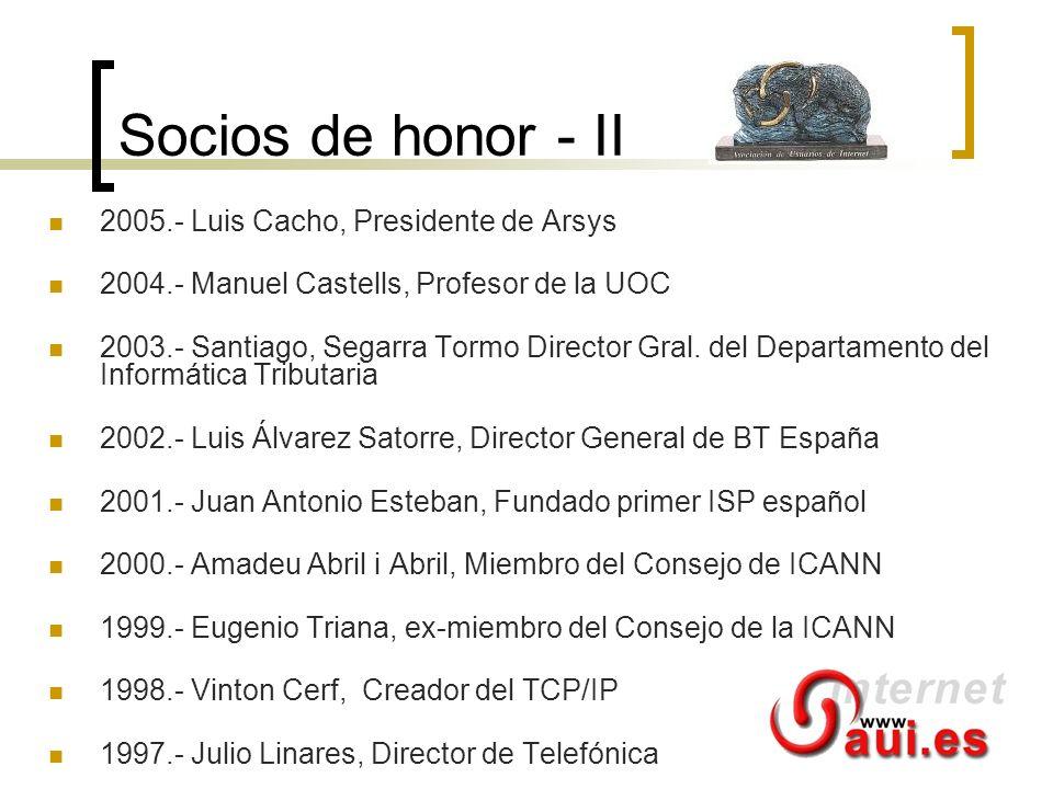 Socios de honor - II 2005.- Luis Cacho, Presidente de Arsys