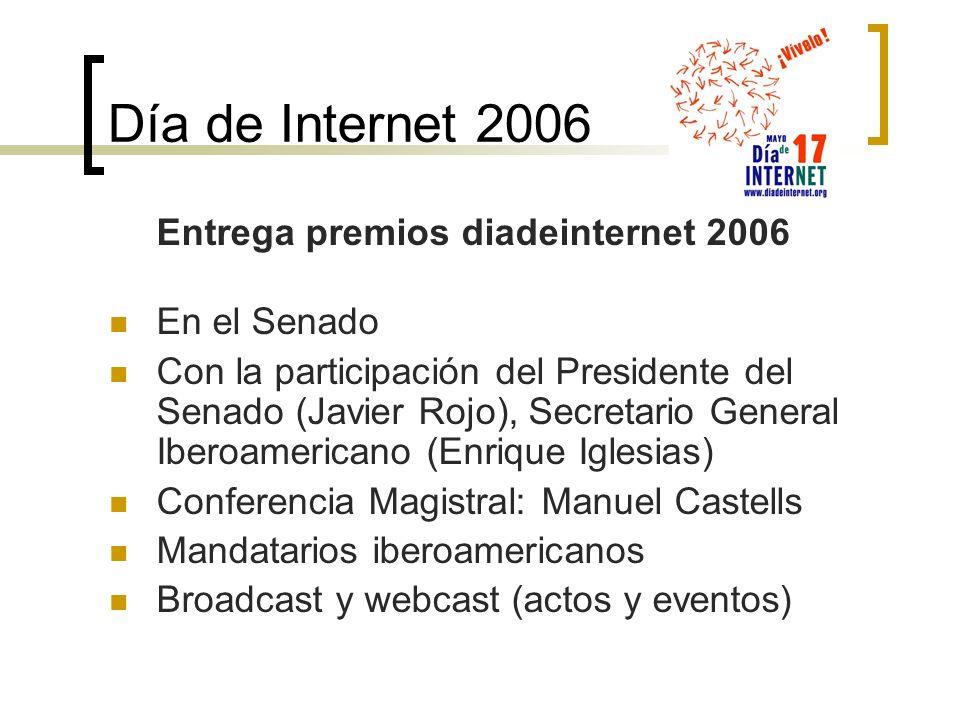 Día de Internet 2006 Entrega premios diadeinternet 2006 En el Senado