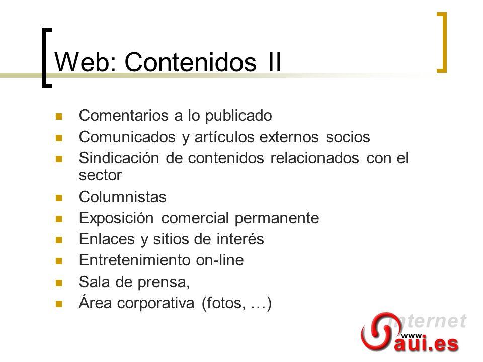 Web: Contenidos II Comentarios a lo publicado