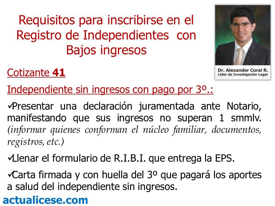 Requisitos para inscribirse en el Registro de Independientes con Bajos ingresos