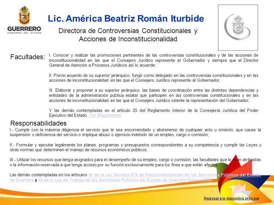 Lic. América Beatriz Román Iturbide