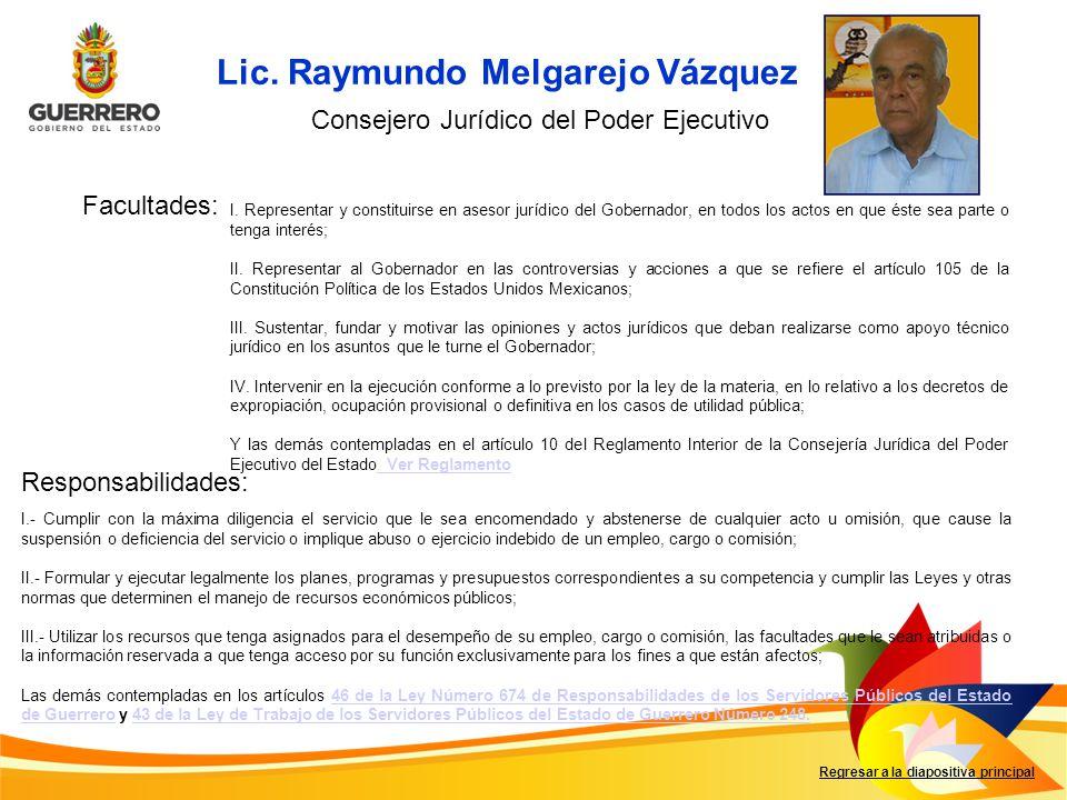 Lic. Raymundo Melgarejo Vázquez