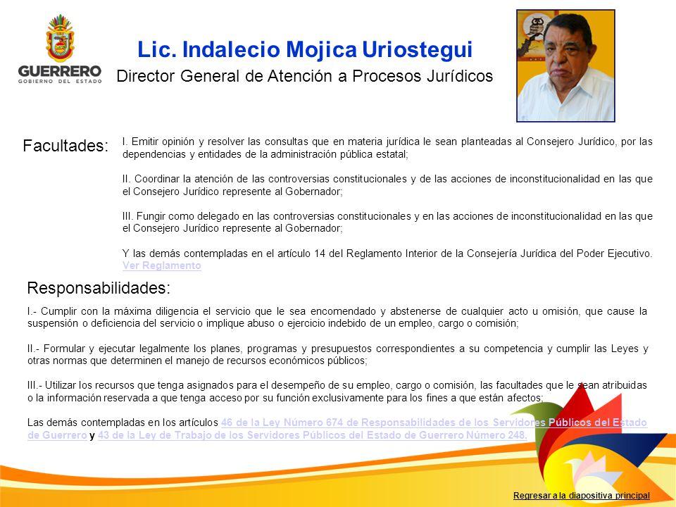 Director General de Atención a Procesos Jurídicos