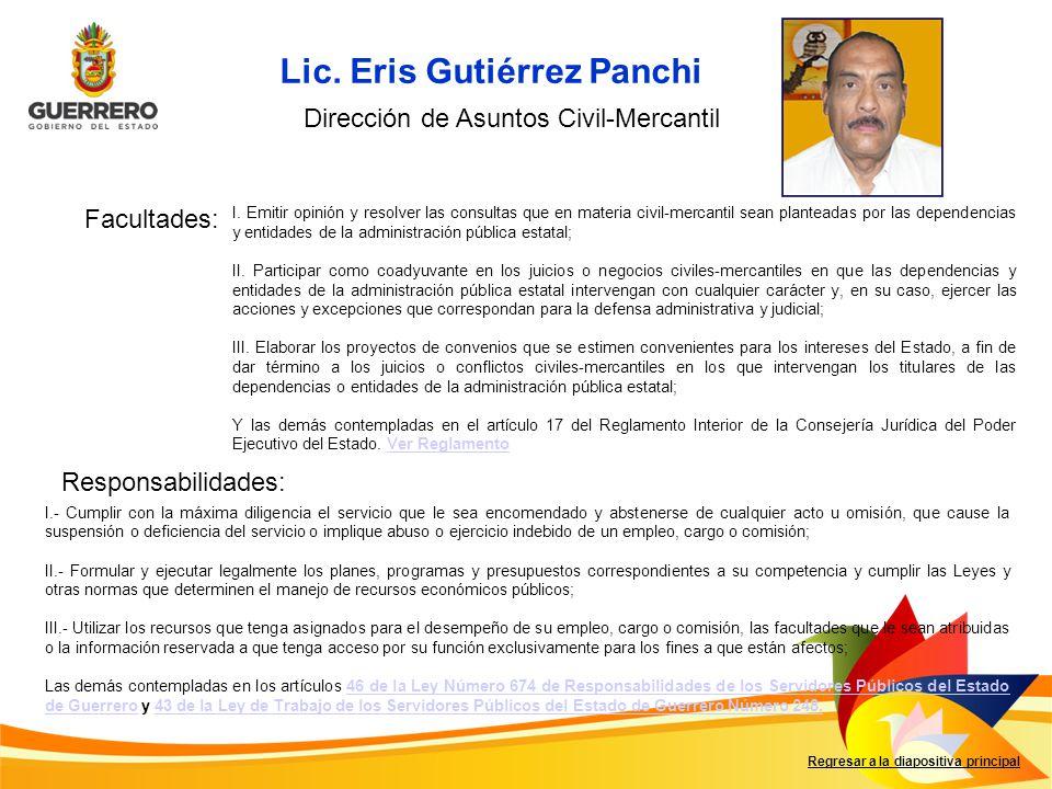 Lic. Eris Gutiérrez Panchi