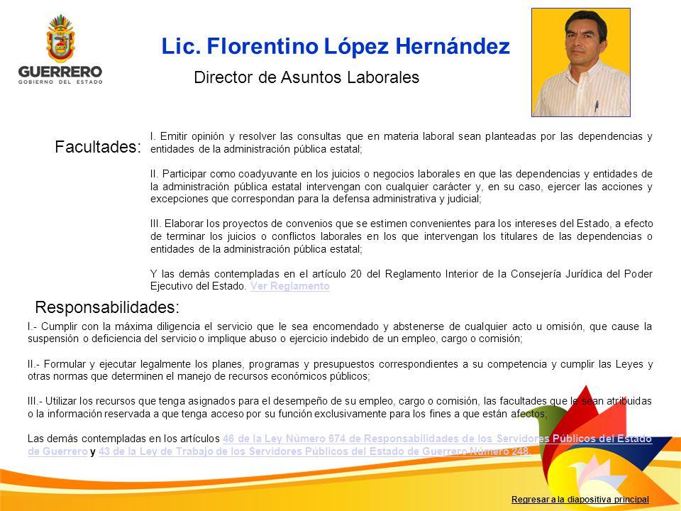 Lic. Florentino López Hernández