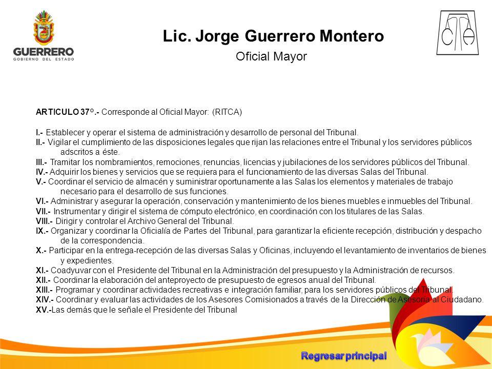 Lic. Jorge Guerrero Montero