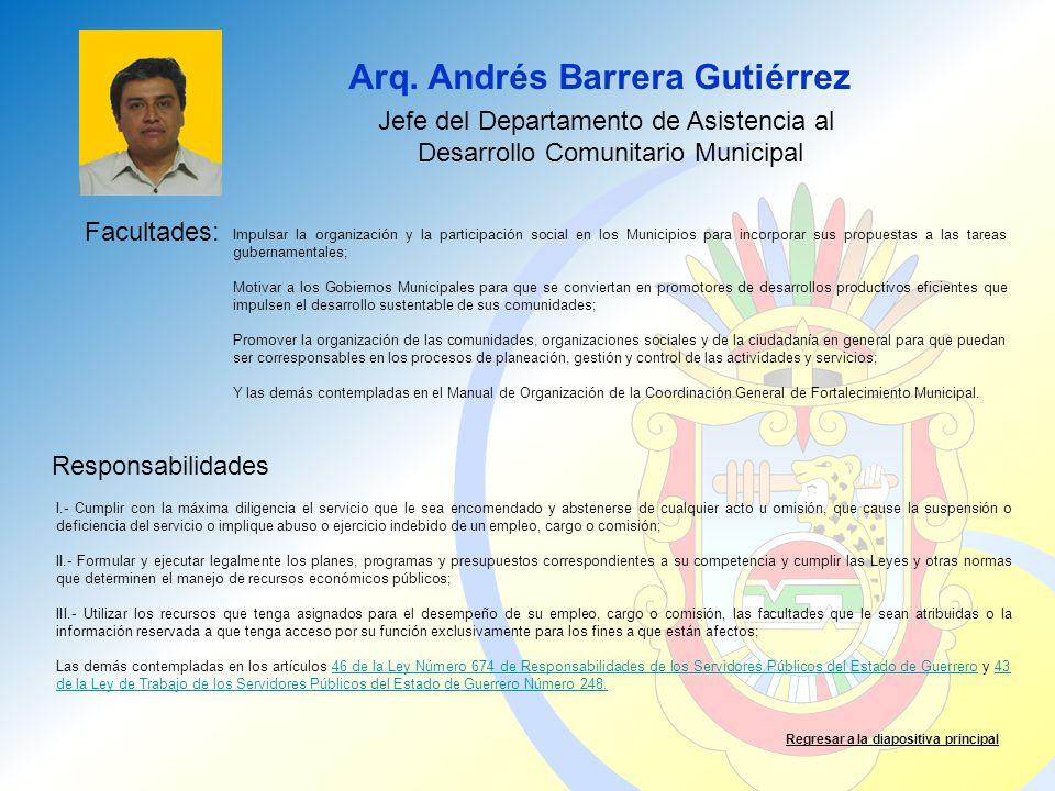 Arq. Andrés Barrera Gutiérrez
