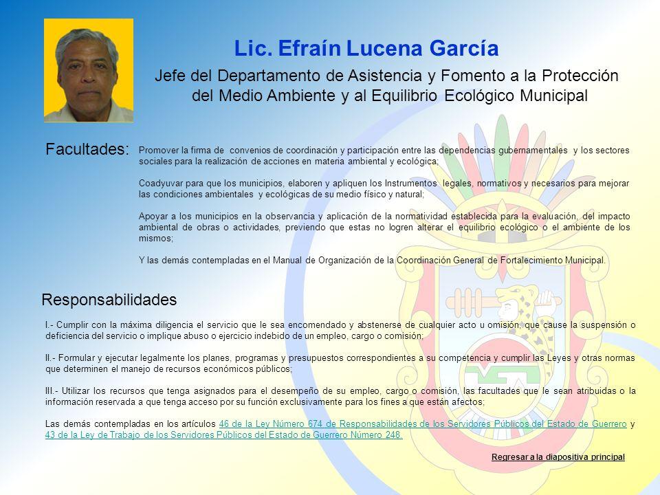 Lic. Efraín Lucena García