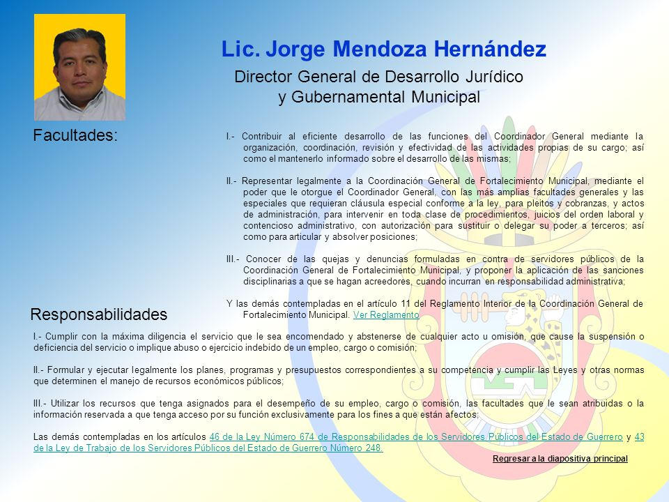 Lic. Jorge Mendoza Hernández