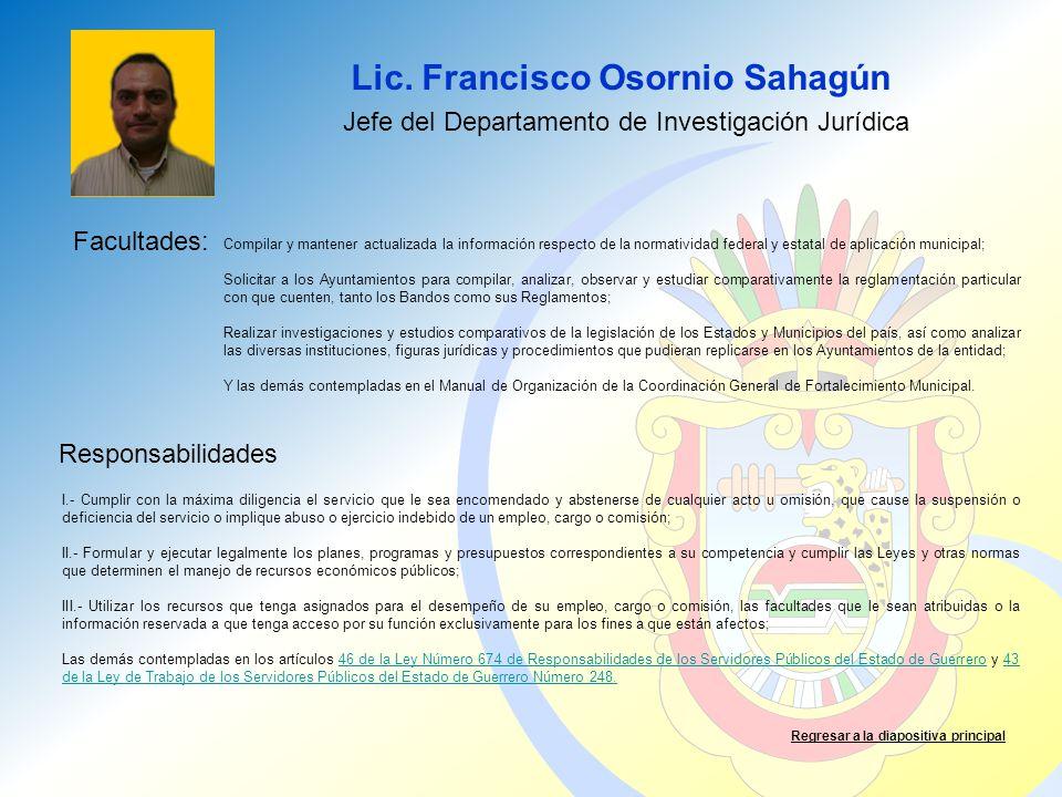 Jefe del Departamento de Investigación Jurídica