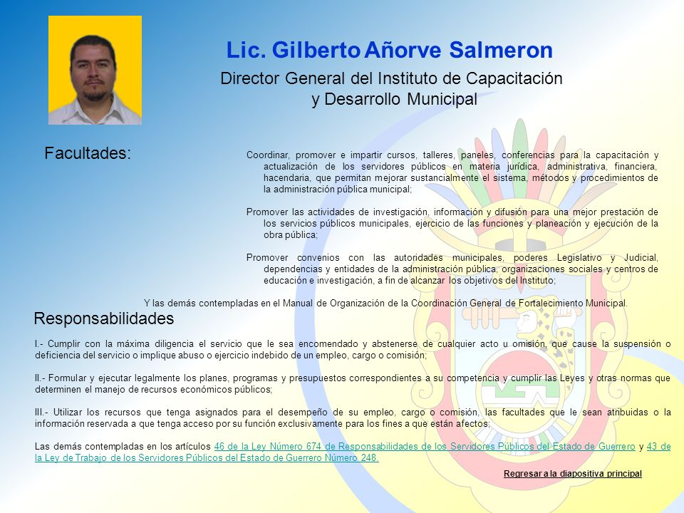 Lic. Gilberto Añorve Salmeron