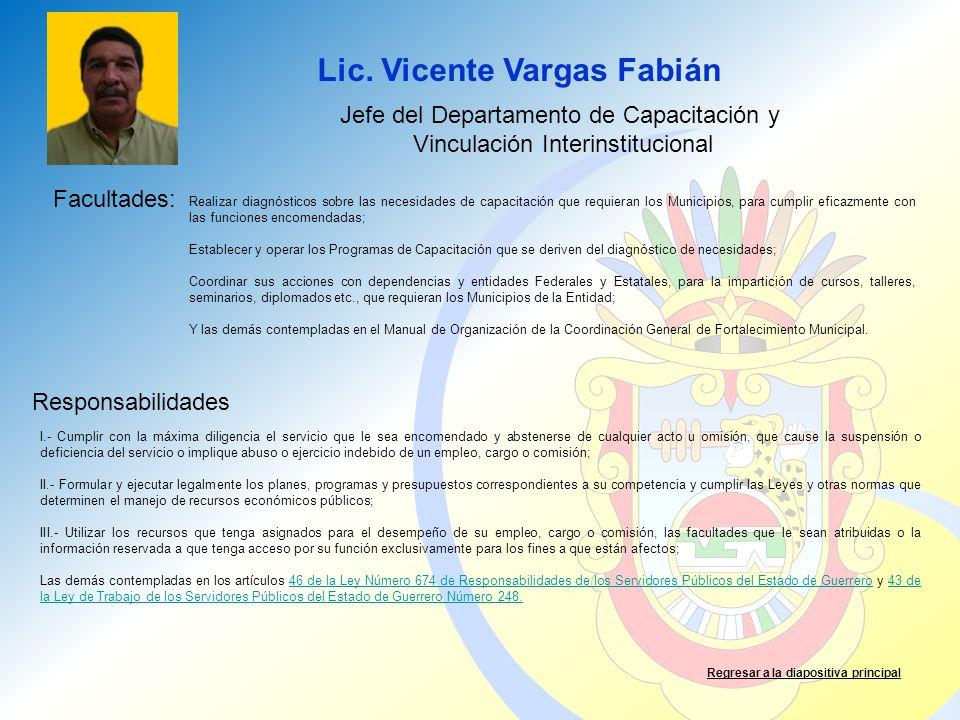 Lic. Vicente Vargas Fabián