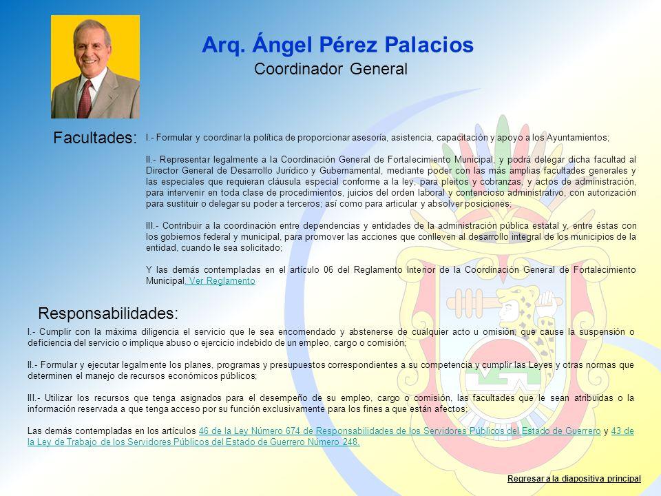 Arq. Ángel Pérez Palacios
