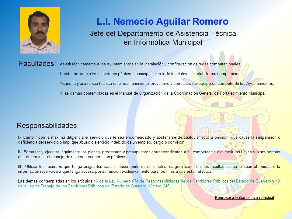 Jefe del Departamento de Asistencia Técnica en Informática Municipal