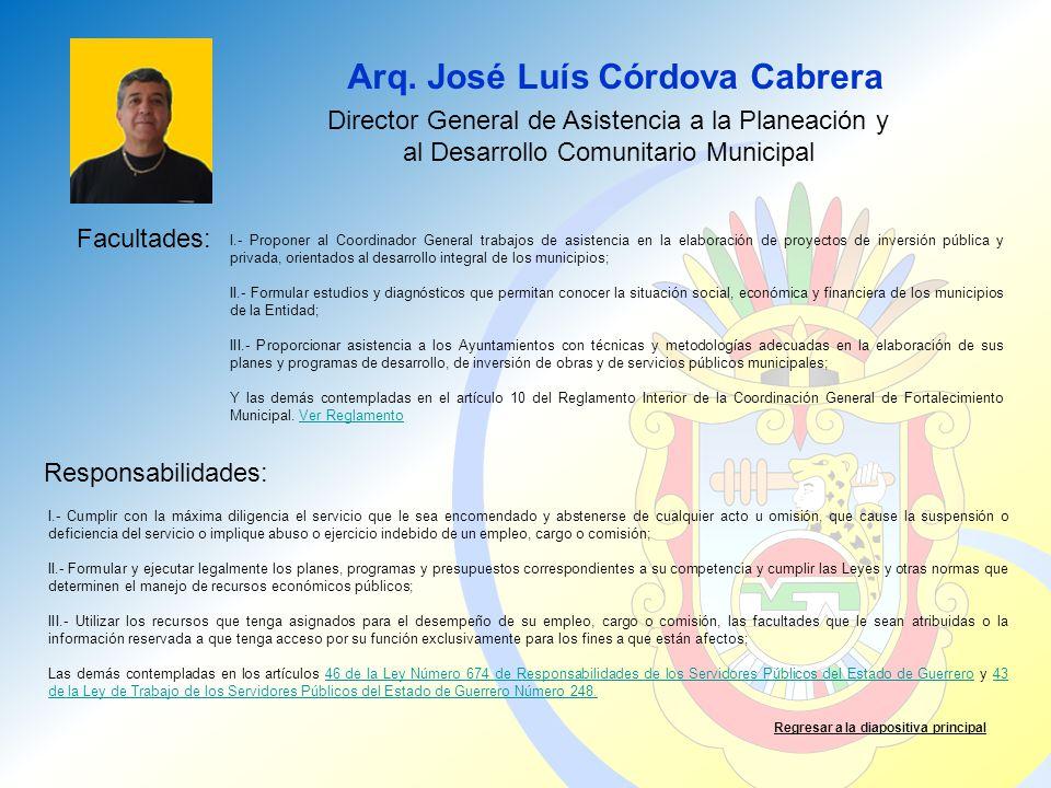 Arq. José Luís Córdova Cabrera
