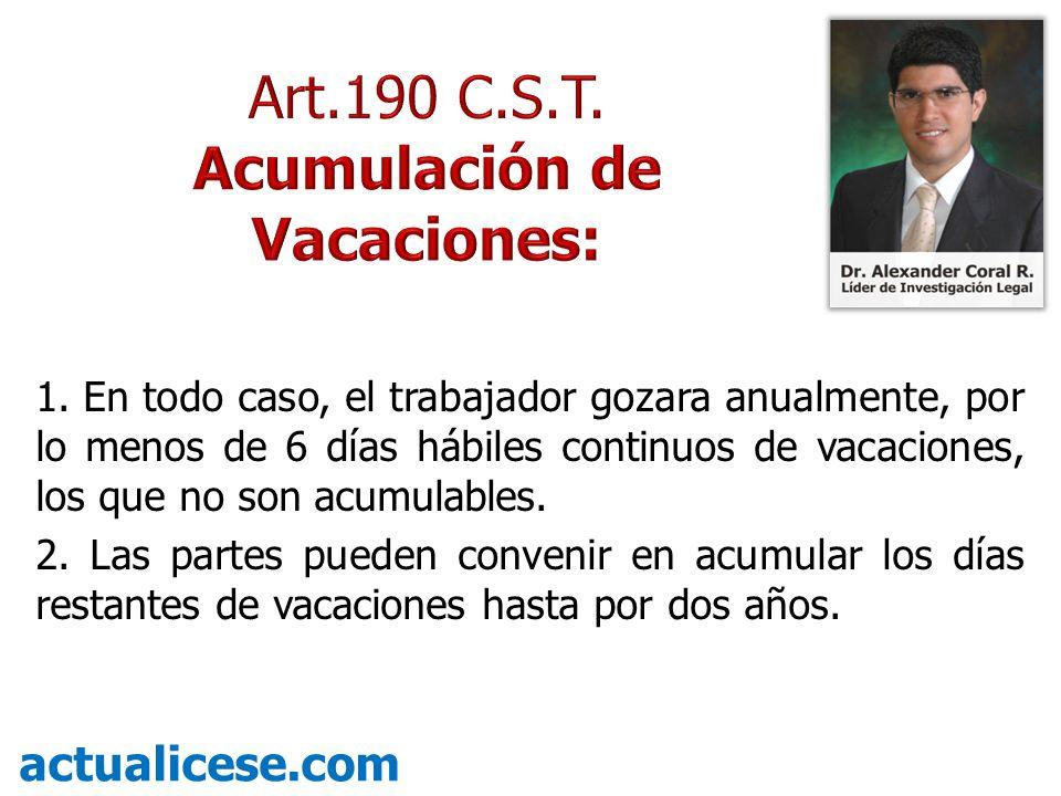 Acumulación de Vacaciones: