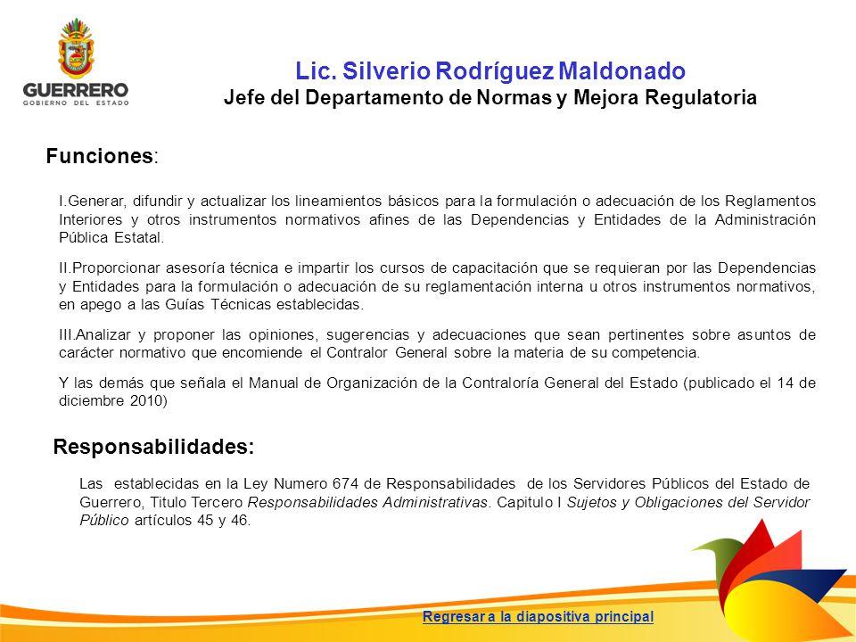 Lic. Silverio Rodríguez Maldonado