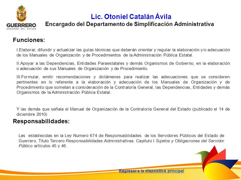 Lic. Otoniel Catalán Ávila