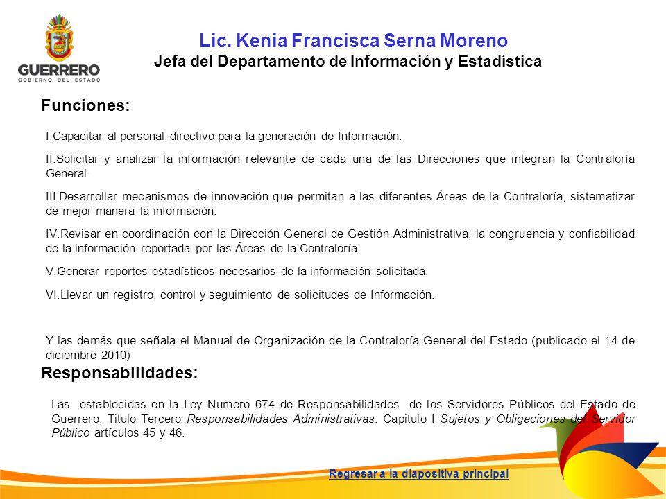 Lic. Kenia Francisca Serna Moreno