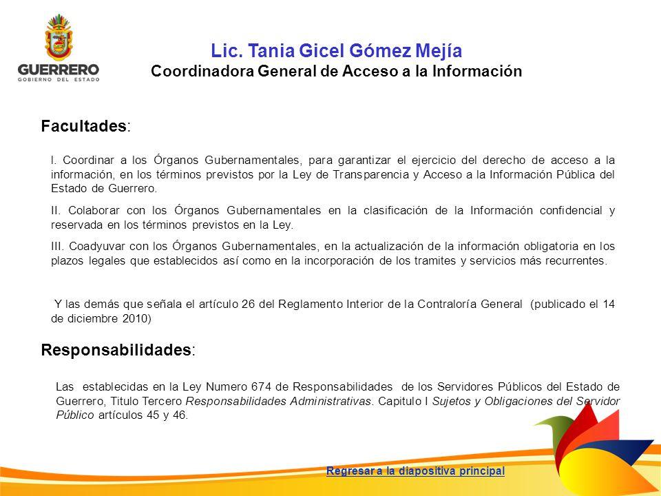Lic. Tania Gicel Gómez Mejía
