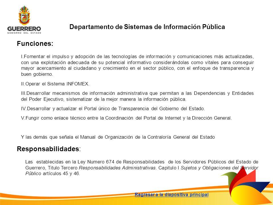Departamento de Sistemas de Información Pública