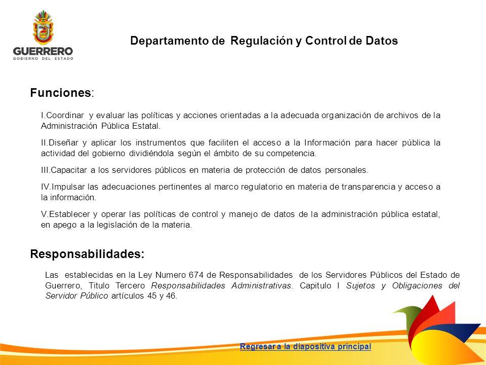 Departamento de Regulación y Control de Datos