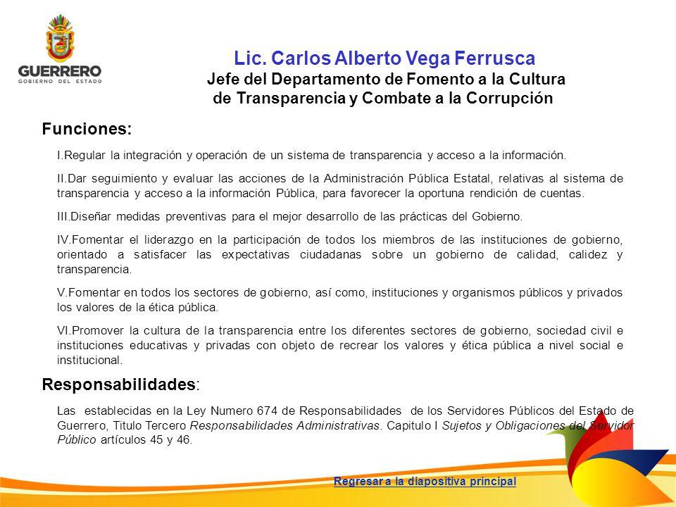 Lic. Carlos Alberto Vega Ferrusca