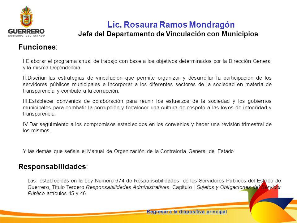Lic. Rosaura Ramos Mondragón